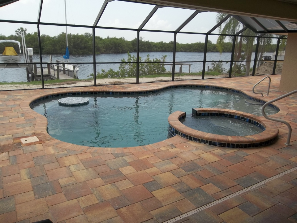 New custom pools port charlotte popa pools and spas for Pool and spa show charlotte nc